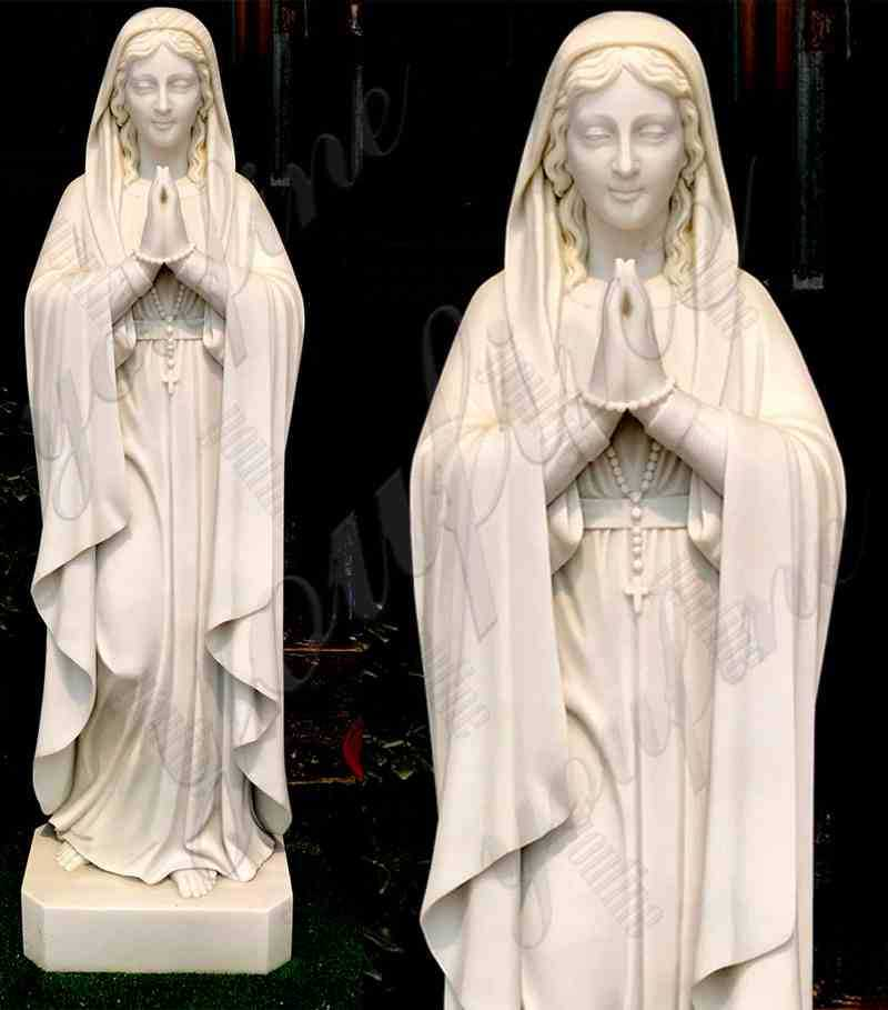 Natural Marble Statue of the Virgin Mary for Church