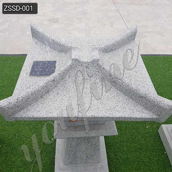 New Design Granite Stone Lamp for Garden Decor Supplier