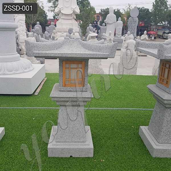 New Design Granite Stone Lamp for Outdoor Garden Decor Supplier