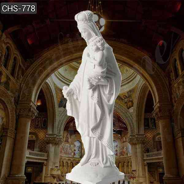 Our Lady of Mount Saint Carmel Marble Statue for Sale