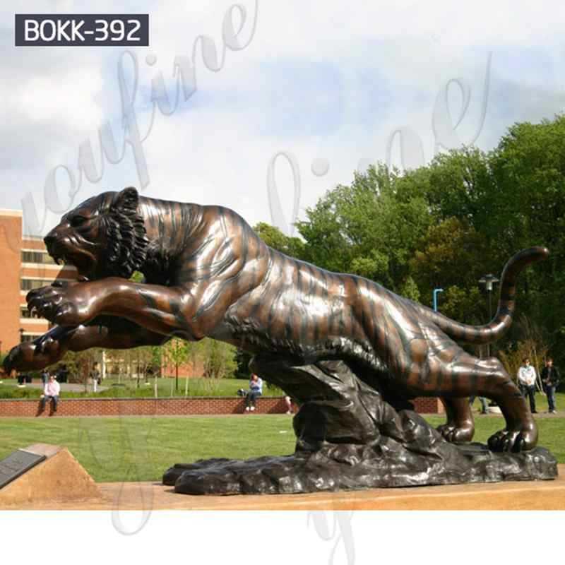 Outdoor Decoration Large Animal Sculpture Bronze Tiger Statue for Sale