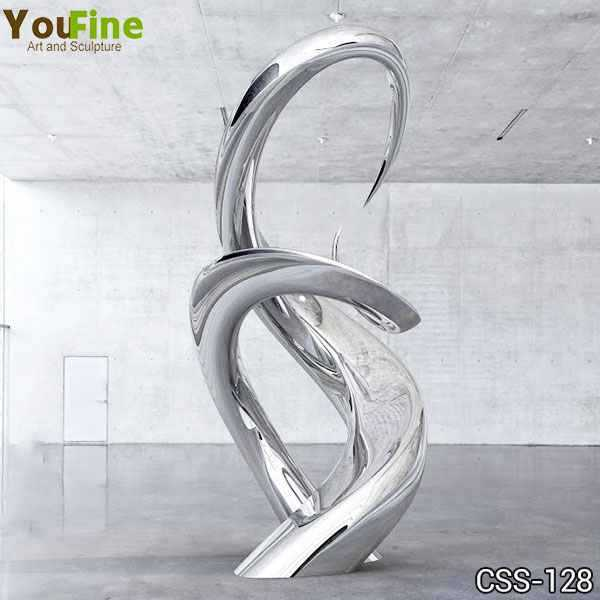 Outdoor High Polished Modern Abstract Stainless Steel Sculpture
