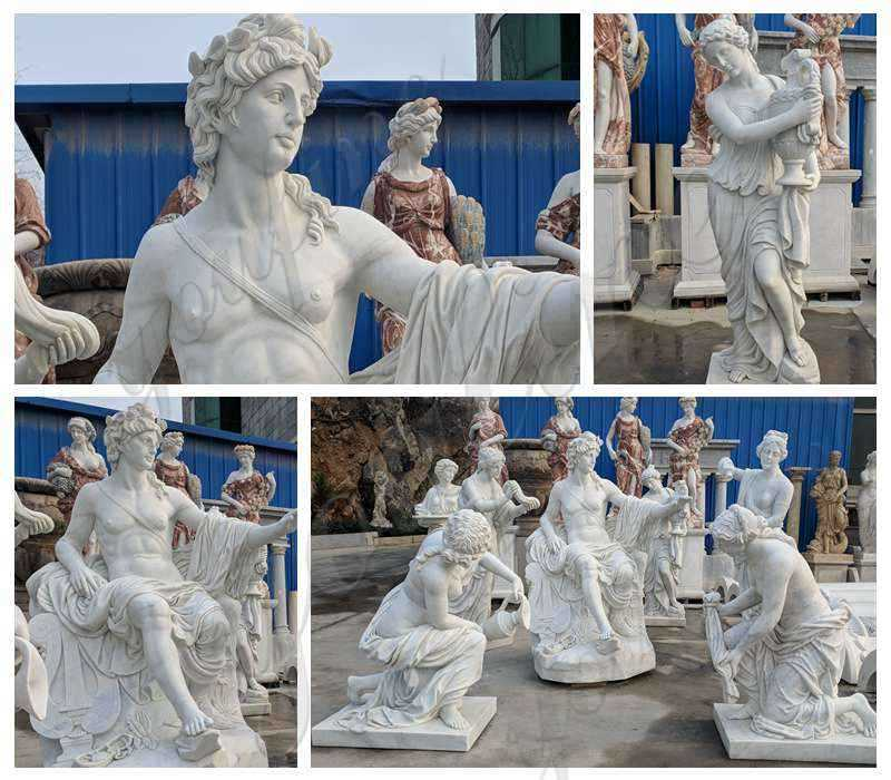 Outdoor White Marble Apollo Bath Statue Supplier