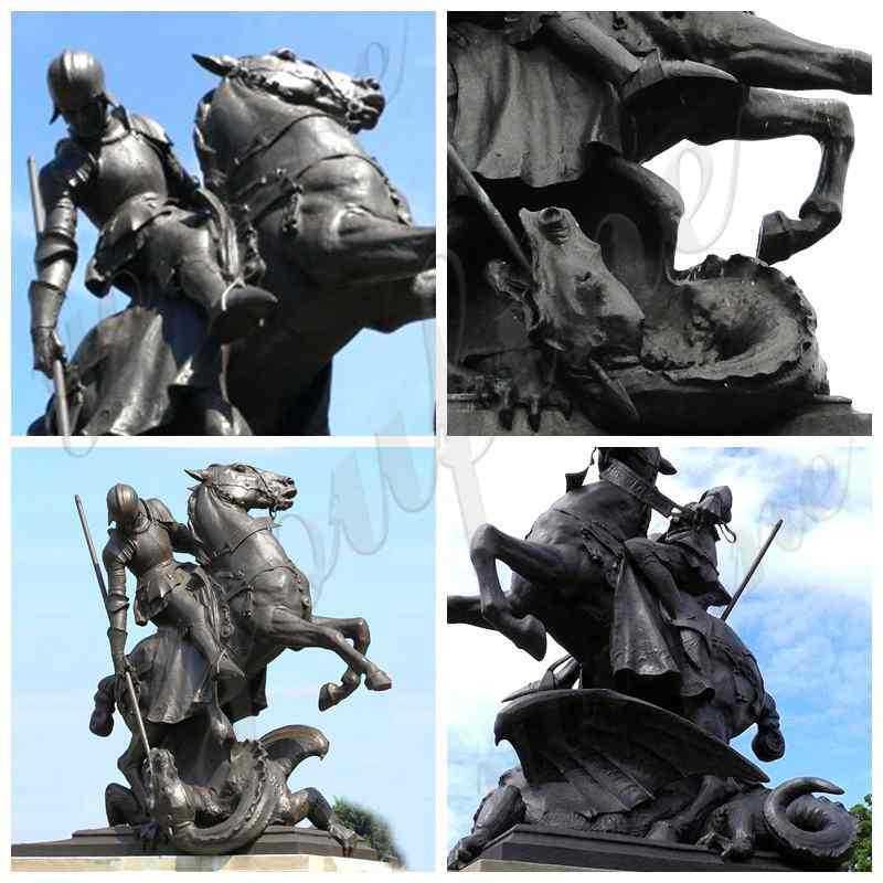 Saint George killing the dragon statue
