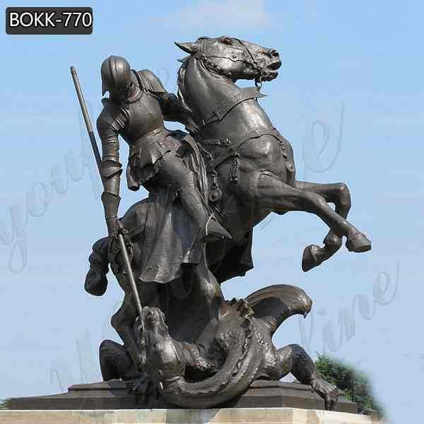 Western Famous Bronze St George Statue with Dragon for Sale BOKK-770