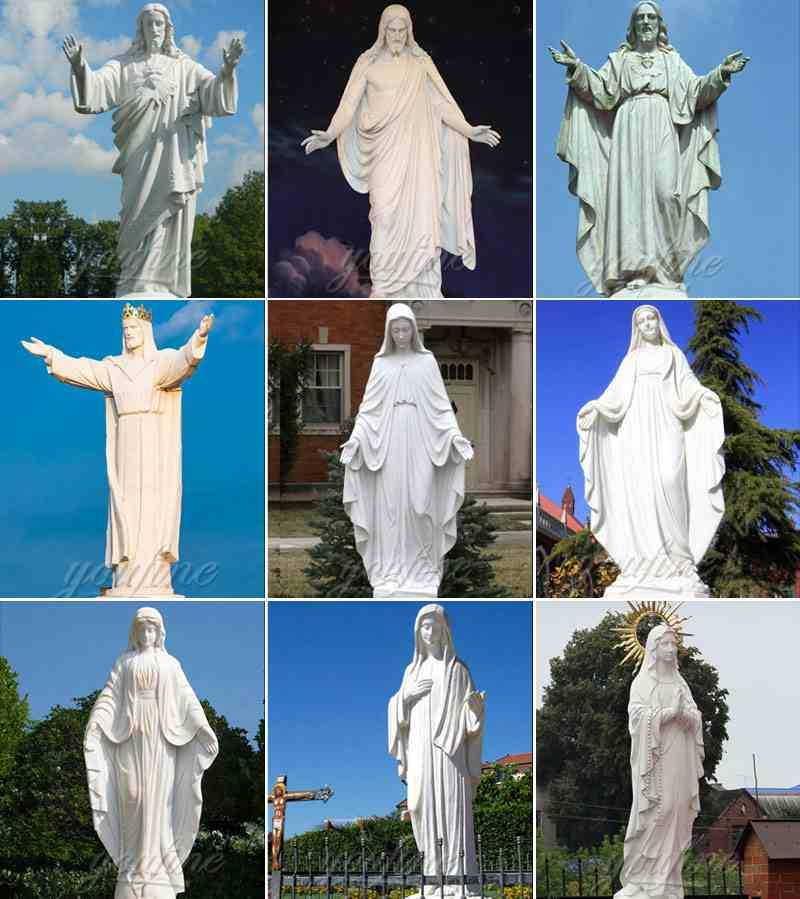 outdoor statues of mary ans jesus