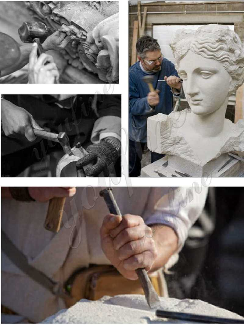 process of Marble Statue