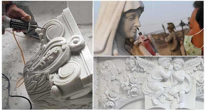 process of Virgin Mary Marble Statue