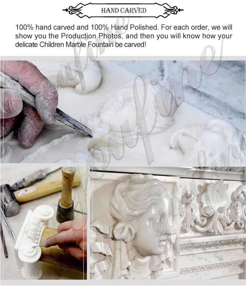 process of White Marble Apollo Bath Statue