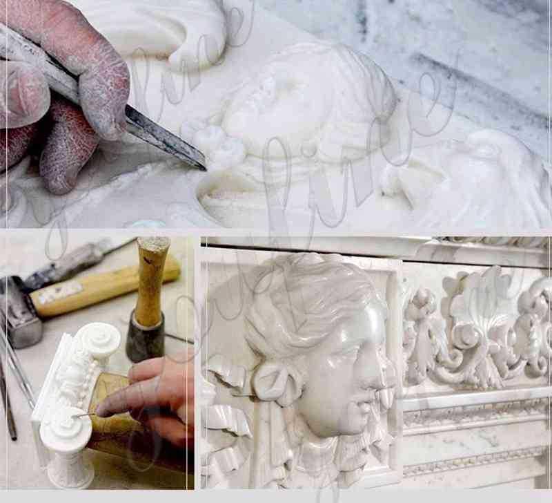process of White Marble Pavilion Gazebo