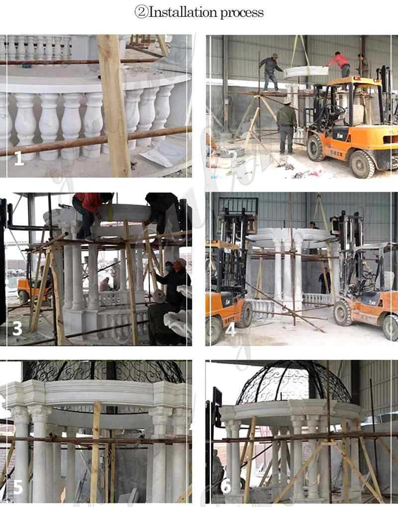 process of marble-pavilion