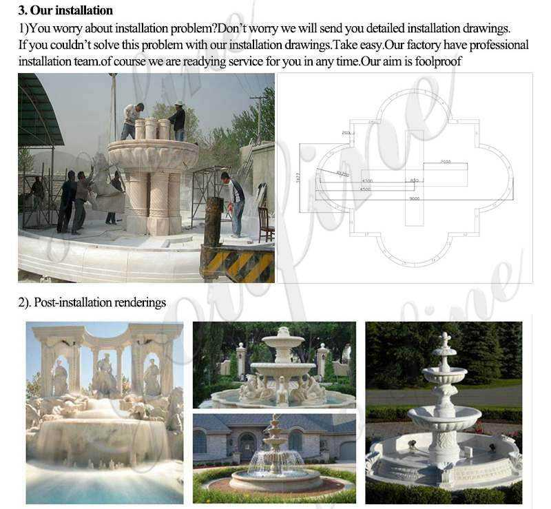 process of natural stone water fountains