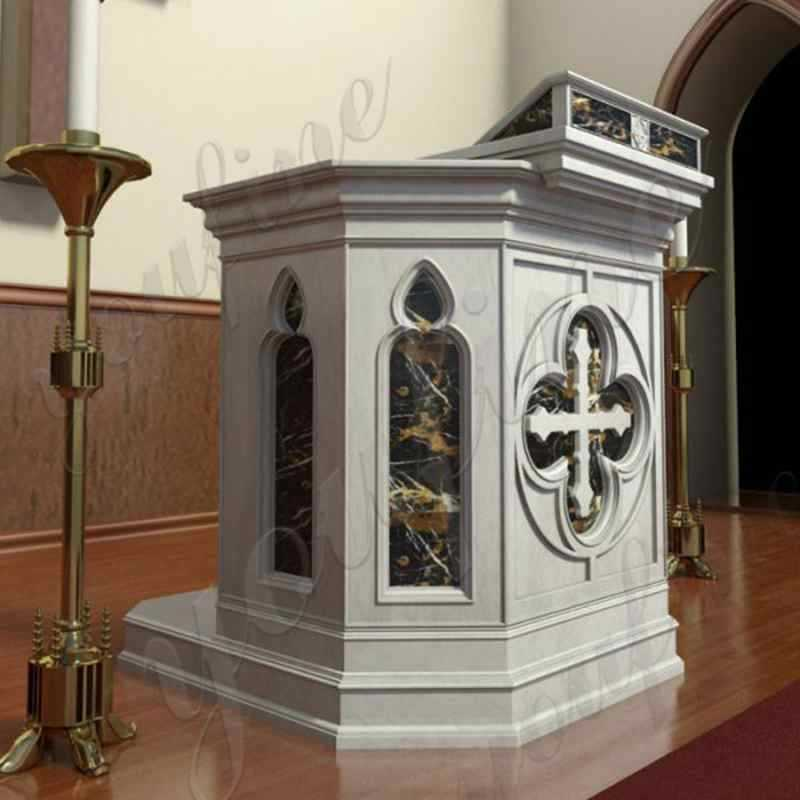 stone church use pulpit in stock