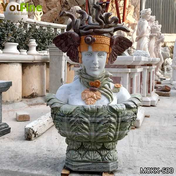 New Design Hand Carved Head of Medusa Marble Bust Statue for Sale MOKK-600