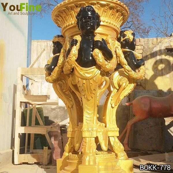 Beautiful Golden Bronze Flower Pot Manufacturer