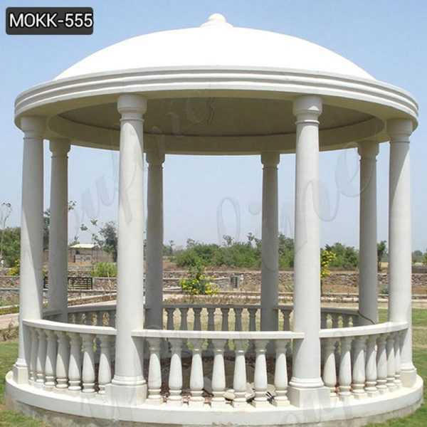 Beautiful Roman Style White Marble Columns Gazebo for Sale MOKK-555
