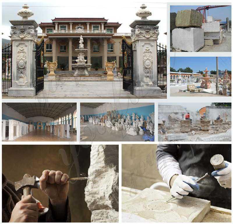 Beautiful Roman Style White Marble Columns Gazebo