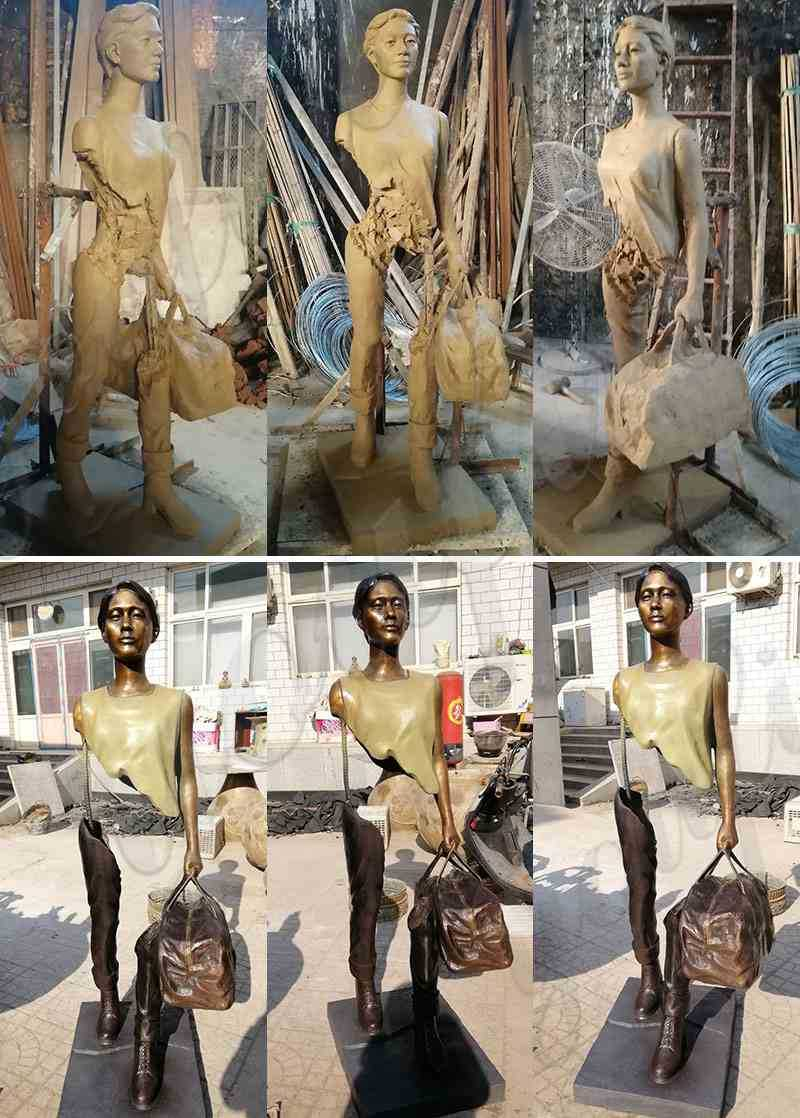 Bronze Bruno Catalano Travelers Sculpture for Sale
