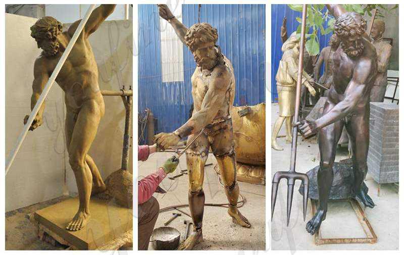 Buy Famous Greek Casting Bronze Poseidon Statue