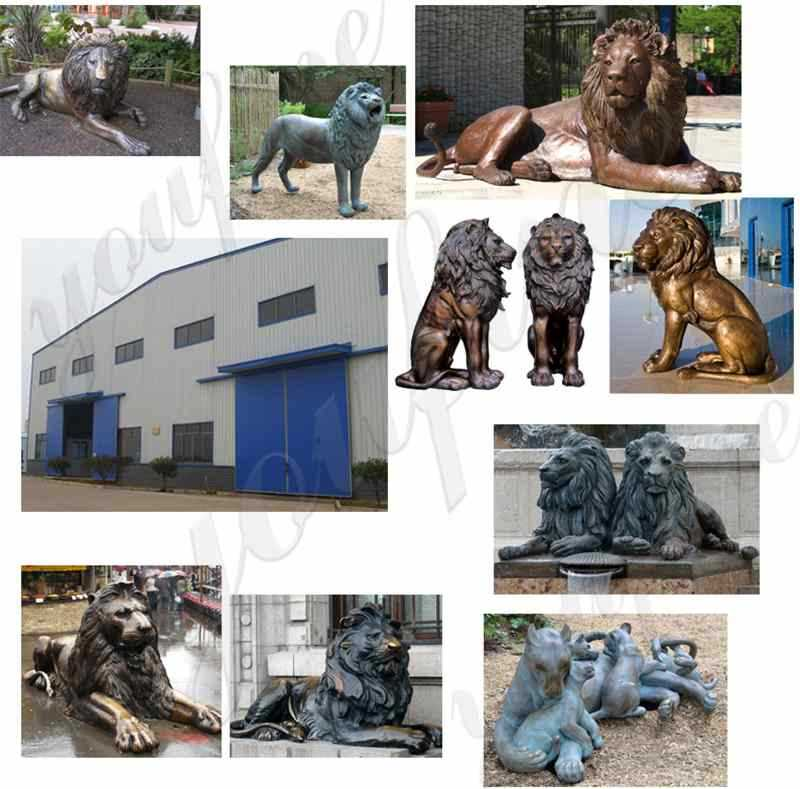 Casting Lion Statue for Outdoor Driveway Manufacturer