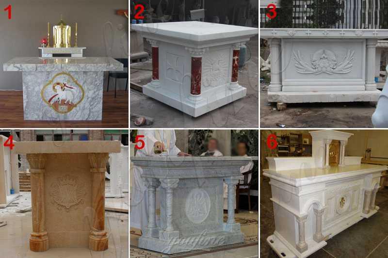Church Marble Altar Table Design