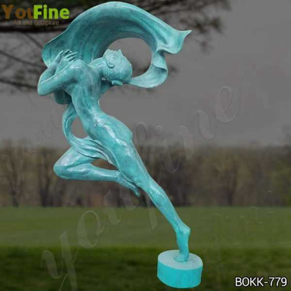 Custom Made Antique Bronze Dancing Girl Statue from Factory Supply
