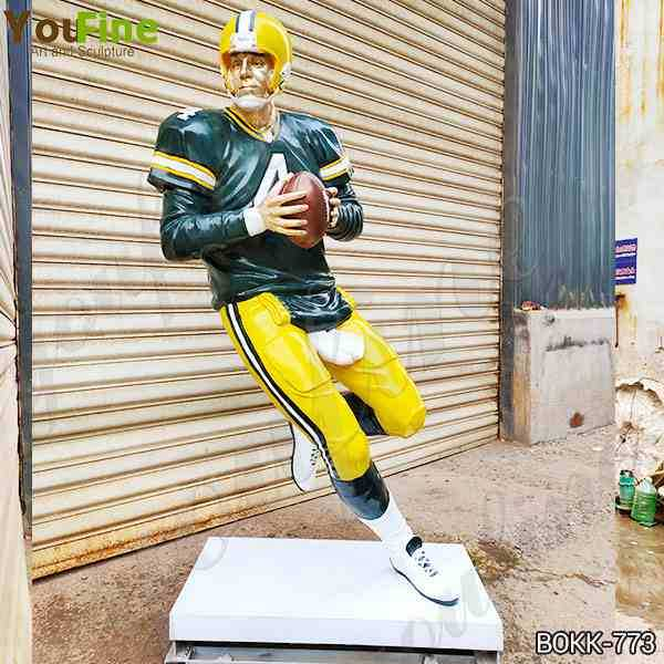 Custom Made Life Size Bronze Football Man Statue for Sale