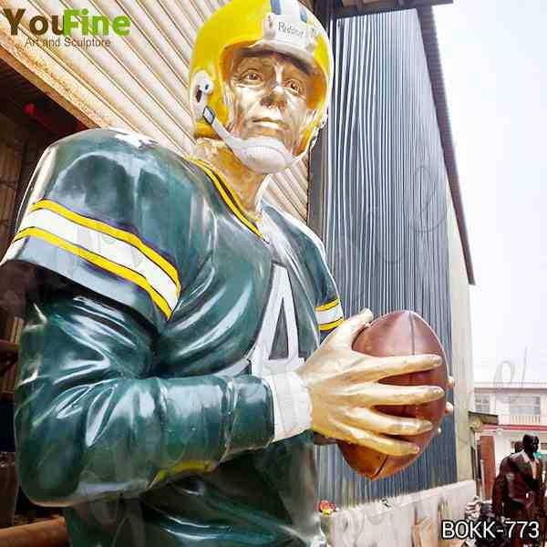 Custom Made Life Size Bronze Football Man Statue