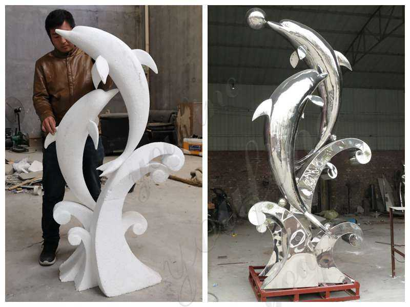 Dolphin Stainless Steel Sculpture