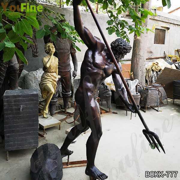 Famous Greek Casting Bronze Life Size Poseidon Statue