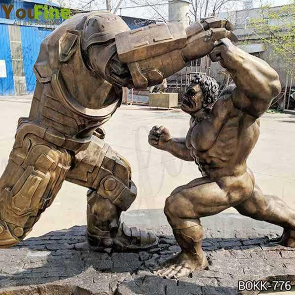 Famous Large Bronze Hulk and Samurai Statue for Sale