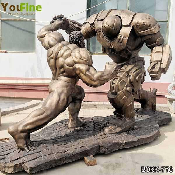 Famous Movie Star Large Bronze Hulk and Samurai Statue