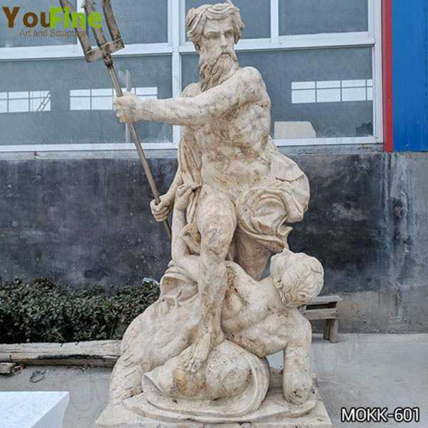 Famous Museum Reproduction of Neptune Calming the Waves Marble Statue MOKK-601