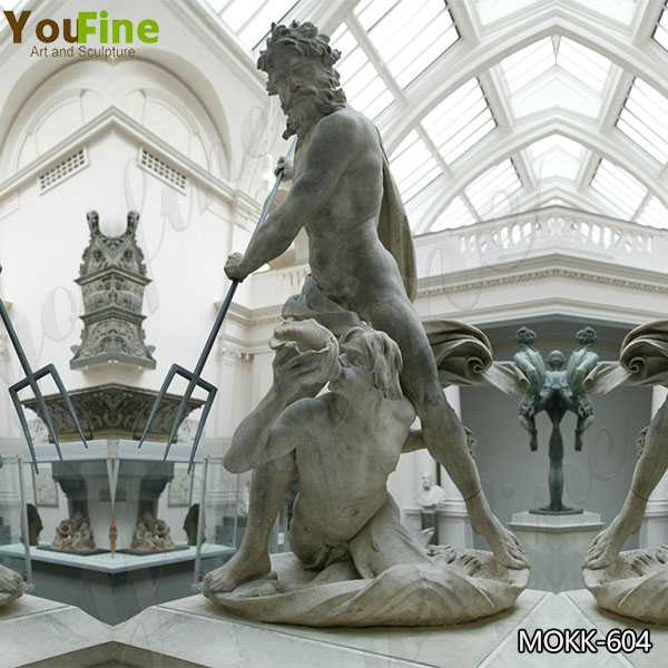 Famous Neptune and Triton Marble Sculpture By Bernini