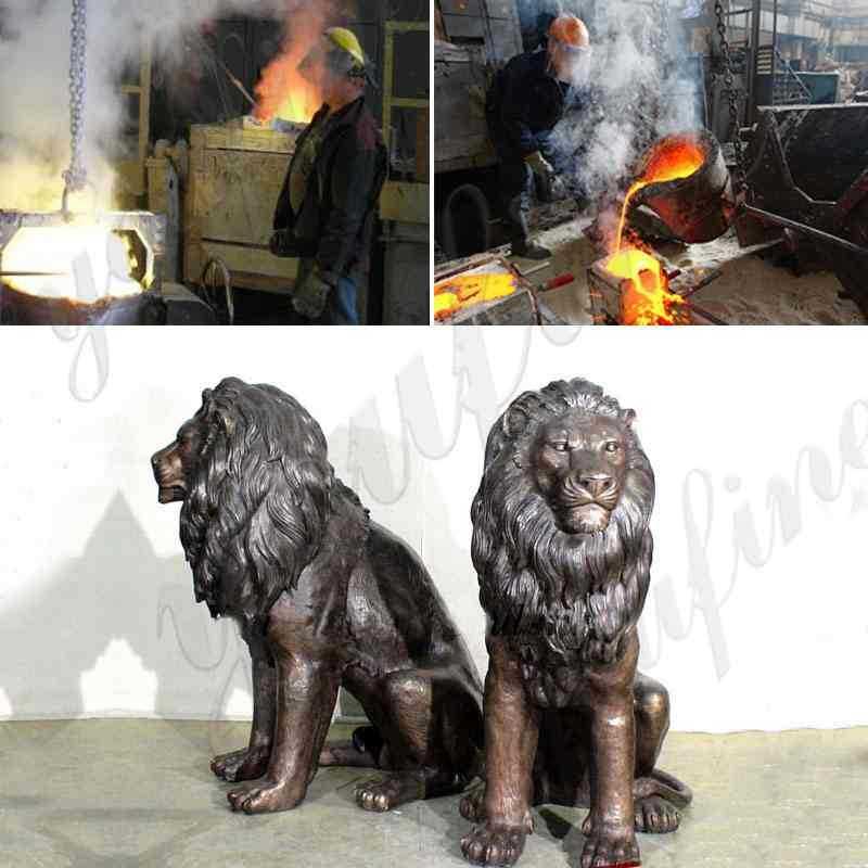 Garden-Decoration-Casting-Bronze-Lion-Statues-for-sale