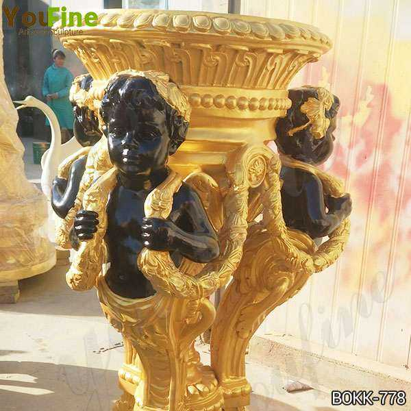 Golden Bronze Flower Pot Manufacturer