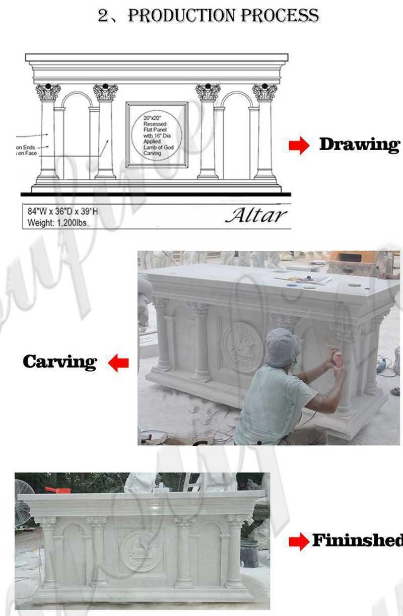 High Quality Modern Church Marble Altar Table Design for Sale