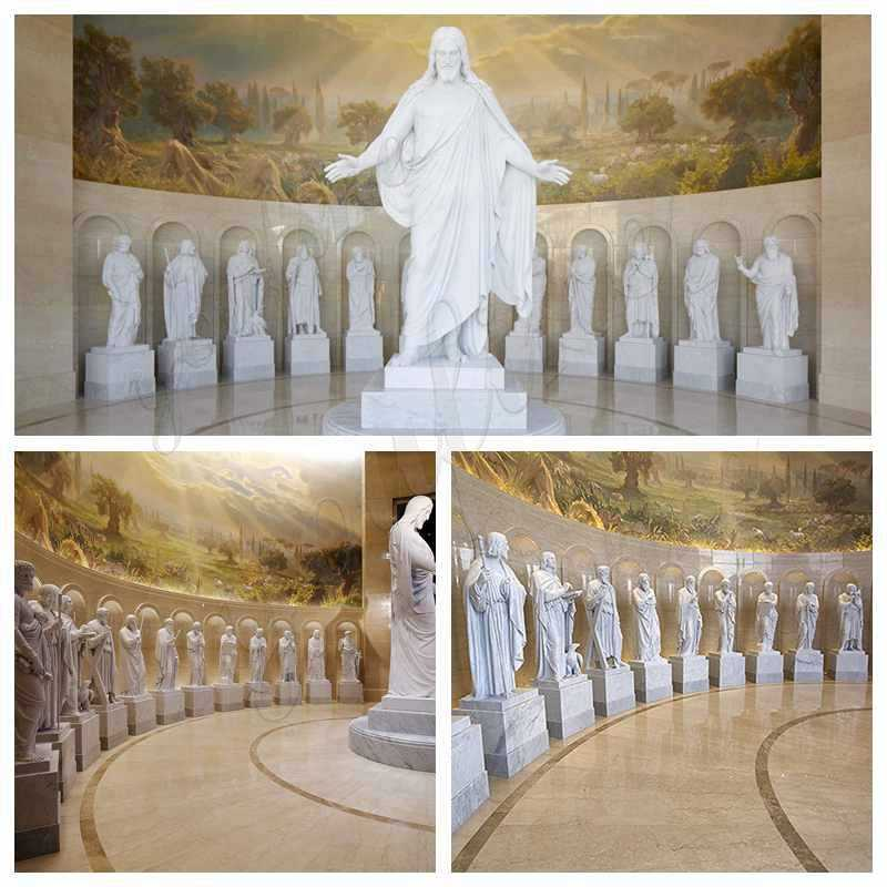 Life Size Catholic White Marble Saint Statue Supplier