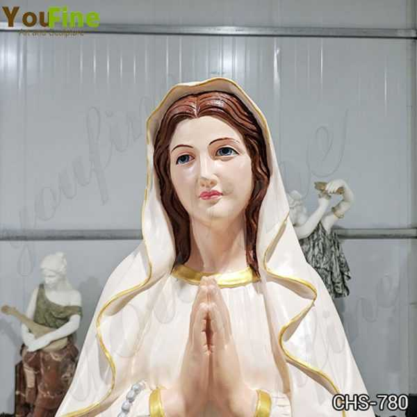 Life Size Marble Blessed Mother Mary Statue Made