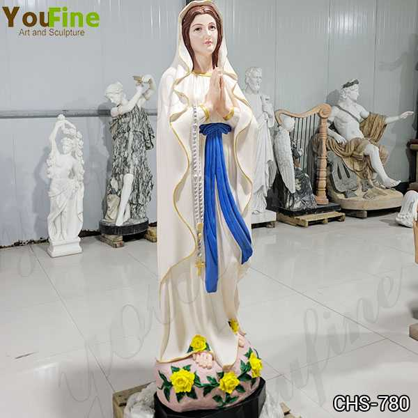 Colorful Life Size Marble Blessed Mother Mary Statue Made from China Factory CHS-780