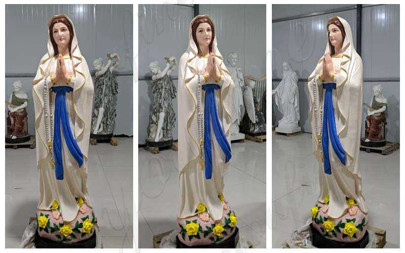 Marble Blessed Mother Mary Statue Made from China Factory