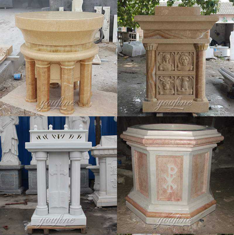 Marble Pulpit for Catholic Church Decor