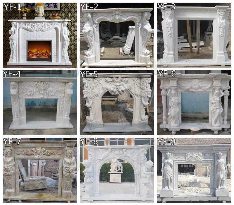 Modern Statuary Marble Fireplace Mantel