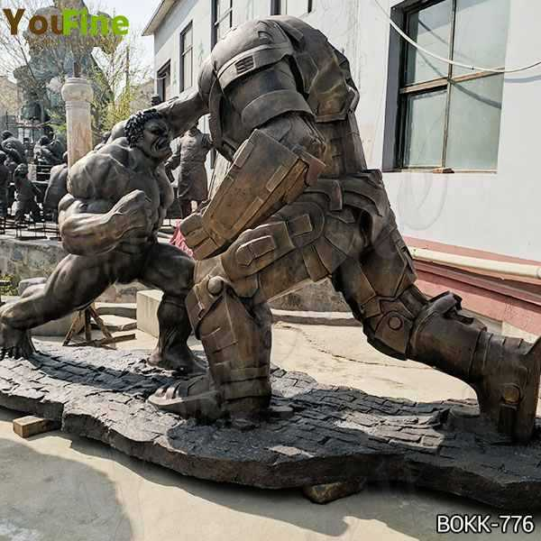 Movie Star Large Bronze Hulk and Samurai Statue for Sale