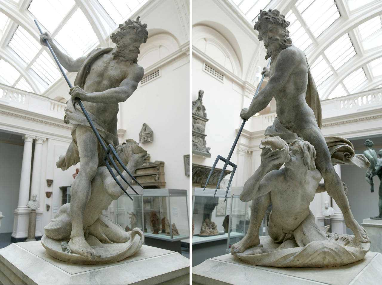 Neptune and Triton Marble Sculpture By Bernini