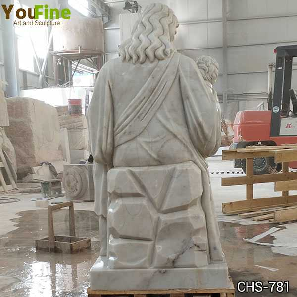 New Hand Carved Marble Statue of Jesus with the Children