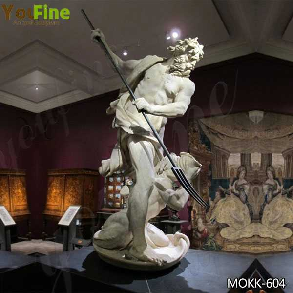 Replica of Famous Neptune and Triton Marble Sculpture