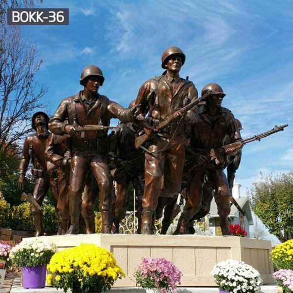 Staying Low Group Sculpture Bronze Veterans Memorial Statue for Sale