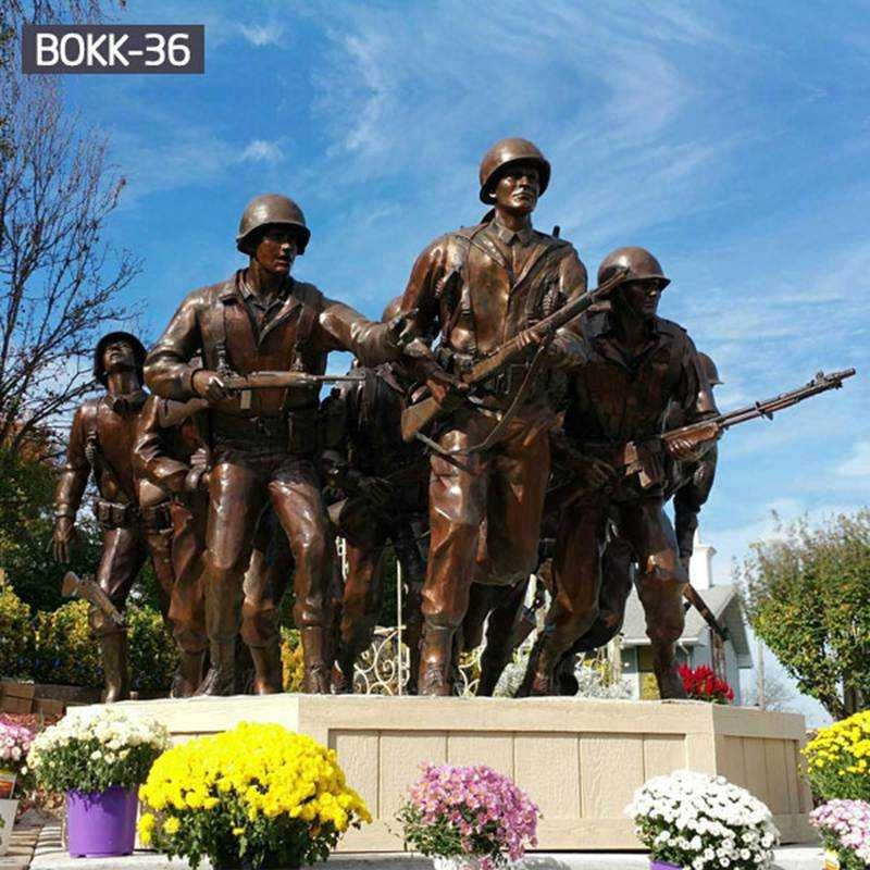 Staying Low Group Sculpture Bronze Veterans Memorial Statue for Sale BOKK-36