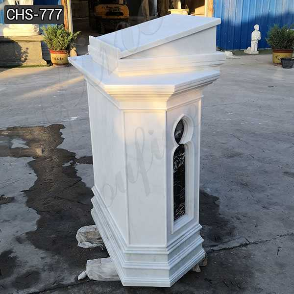 White Marble Pulpit for Catholic Church Decor Supplier